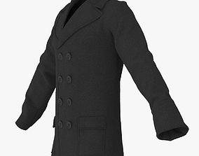 3D Men Breasted Coat