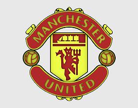 Manchester United Logo 3D