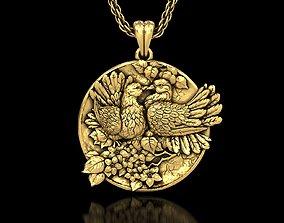 Doves Medallion Pendant 3D print model