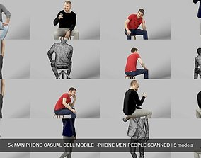 3D 5x MAN PHONE CASUAL CELL MOBILE I-PHONE MEN PEOPLE