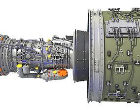 aeroplane 3D GTF Geared Turbofan Engine