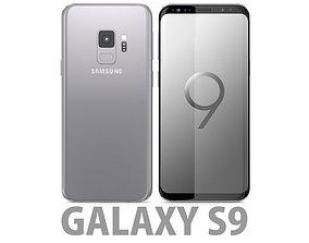 Samsung Galaxy S9 Titanium Grey 3D model