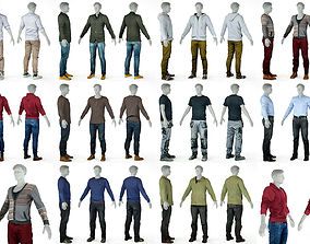 10 Casual Male Outfits V1 3D