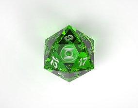 3D printable model Green Lantern D20 Dice