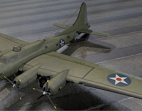 Boeing B-17E Fortress 3D