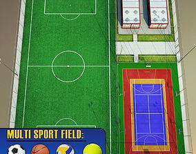 Sport court arena centre pack 3D