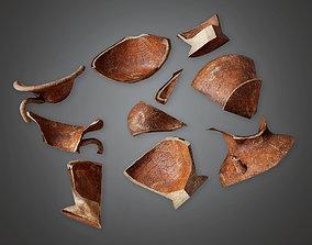 3D asset Ancient Broken Clay Pots 01 TRS - PBR Game Ready