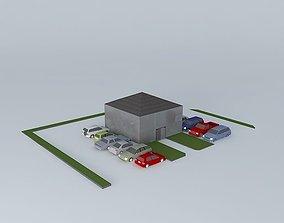 Office Building 3D model arab