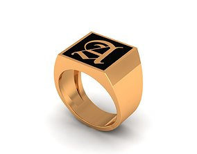 Old English Signet Ring A 3D printable model