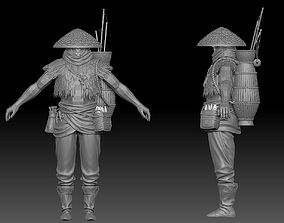 3D fisherman ZBrush raw file