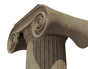 Ionic column 3D model architecture