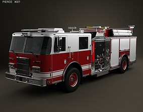 3D model Pierce Fire Truck Pumper 2011
