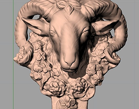 Animal Sculpture Model decorations Sheep head A011