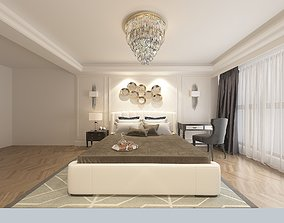 3D Modern bedroom family