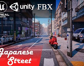 building Japanese Street 3D