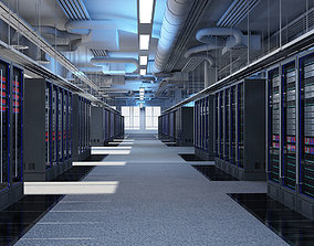 communication 3D Data Communication Server Room