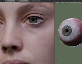 Realistic 3D hand painted Eyes VR / AR ready