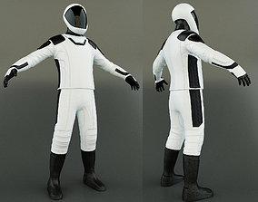 3D asset game-ready Space Suit