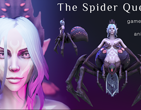 3D model animated The Spider Queen