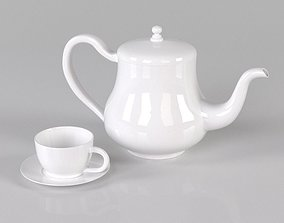3D model Cup and teapot