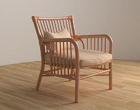 wood 3D model VR / AR ready Wooden Chair