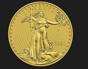 3D printable model 10 Dollar Liberty Coin