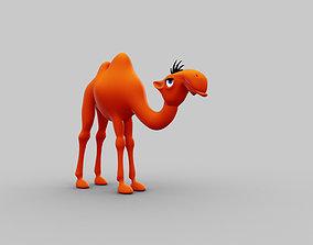 3D model Camel funny cartoon character