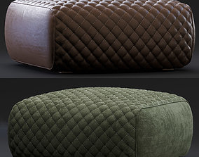 3D model Minotti Pouf Ashley