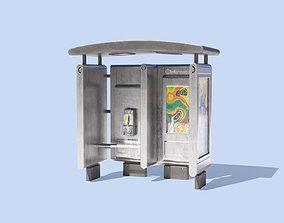 3D model Info Kiosk with Phone