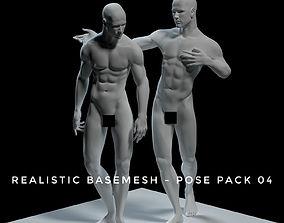 Realistic Basemesh - Male - Pose Pack 3D model