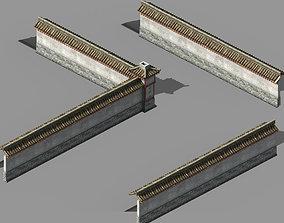 Song Dynasty-Silk Workshop-Enclosure Wall 3D model