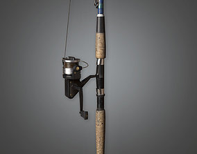 Fishing Pole TLS - PBR Game Ready 3D asset