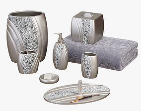 3D model Brilliance Mosaic Silver Gray Bath