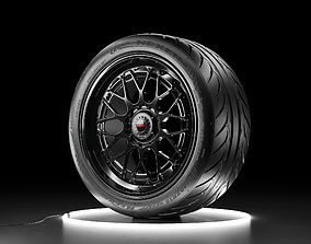 Car wheel NEXEN NFERA SUR4G tire with Rotiform 3D model 1