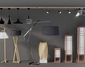 Pack of lamps for interior visualizations 3D model