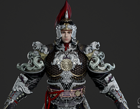 3D model Ancient Chinese armor swordman Ancient Chinese 1