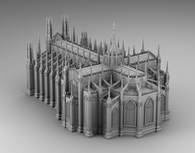 Chicago cathedral 3D print model