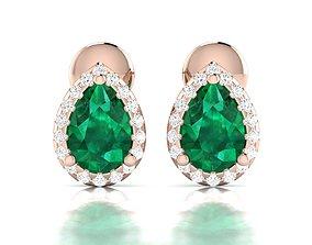 jewelry diamond Women earrings 3dm render detail