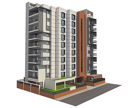 3D Apartment building 16