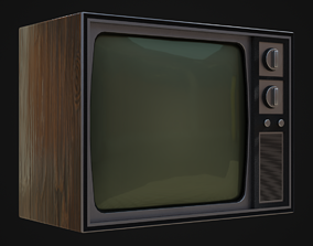 3D asset Old 60s Tv