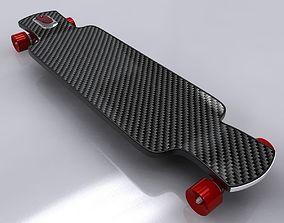 Longboard Skateboard 3D