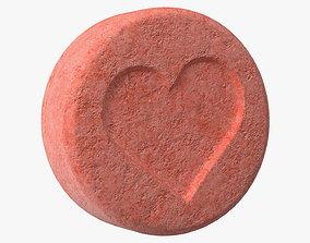 3D MDMA Ecstasy Tablet with Heart Imprint
