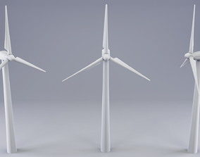 engine 3D model Wind Turbine