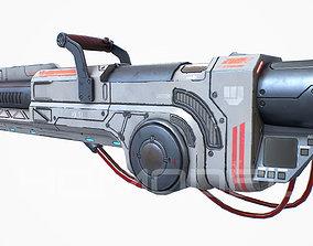 3D asset Heavy Laser Gun PBR