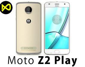 3D Motorola Moto Z2 Play 2017 Gold