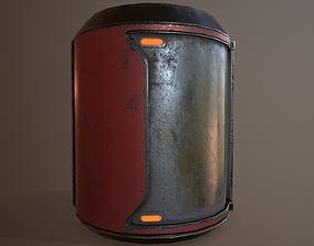 3D asset Sci-Fi Fuel Barrel Game Ready PBR Textures