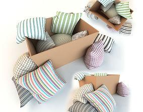 Set of pillows blanket 3D model