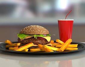 Burger meat 3D model