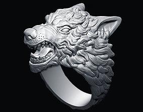 Demonic Wolf ring 3D print model