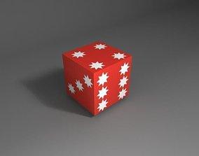 VR / AR ready dice 3d low poly model